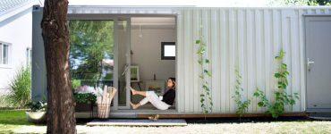 extension maison en container